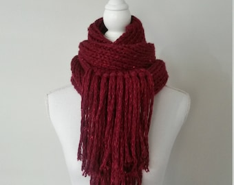 Women knitted hand - knitted scarf hand neck - scarf scarf pure wool, wool neck