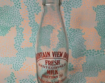 Vintage British Milk Bottle