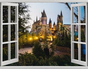 Harry Potter, Hogwarts Castle wall sticker, decal, self-adhesive vinyl