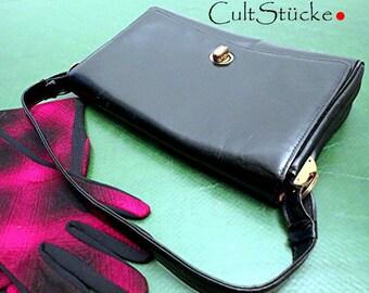 60s classic handbag black leather