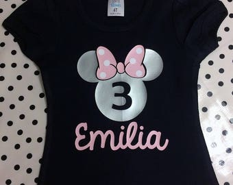 Minnie Mouse Birthday Shirt    personalized Minnie Mouse shirt   custom Minnie Mouse Clothing   Minnie Mouse Shirt   lauras custom goods