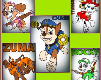 Paw Patrol SVG - Dog svg - Layered Paw Patrol SVG Png Jpeg files- Designs for Cricut and silhouette
