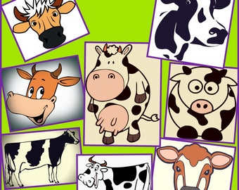 Cow SVG - Cow Outline SVG - Layered Cow SVG Png Jpeg Dxf - Designs for Cricut and Silhouette