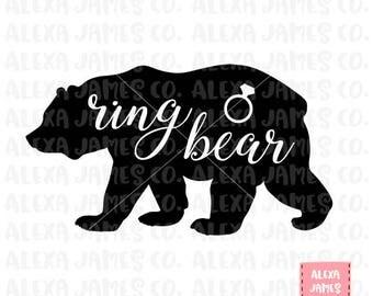 Ring Bearer SVG, Ring Bear SVG, SVG Cut File, Wedding Sign svg, Wedding decor svg, Wedding Stencil, Cricut Cut File, Silhouette, svg png pdf