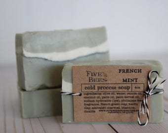 French Mint - cold process soap