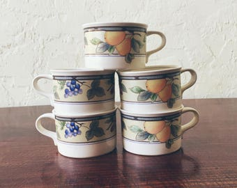 Mikasa Garden Harvest Flat Cups (Set of 5)
