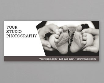 Photographer Facebook Cover Photo Template - Newborn Baby Facebook Timeline Cover Photo - Facebook Banner, Photoshop PSD *INSTANT DOWNLOAD*