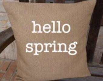 Burlap Pillow Covers--- Spring