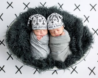 Baby twins etsy twin hats twin hats personalisedpersonalized hats for twinsgift for baby twins negle Choice Image
