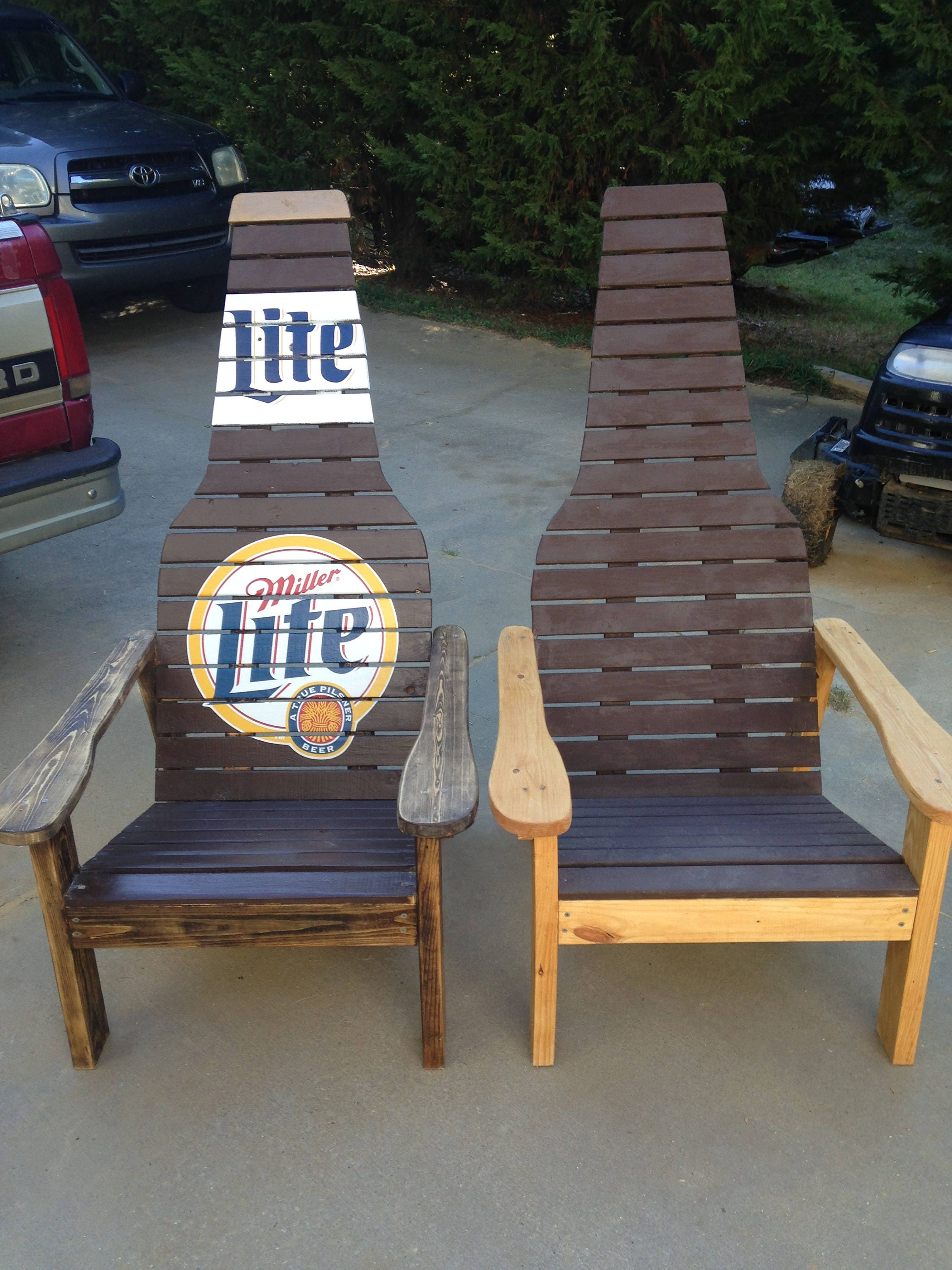 Outdoor furniture Wood chair Beer bottle Adirondack chair