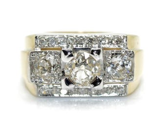 Ring art deco diamond