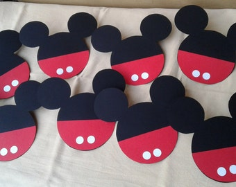 10 invitations red Mickey Mouse Birthday