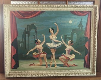 Vintage Ballerina Paint by Number