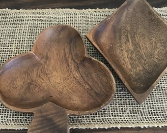 Set of 2 Wood bowls