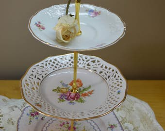 Girlfriends Getaway Eclectic 3 Tier Cake Stand Part 2
