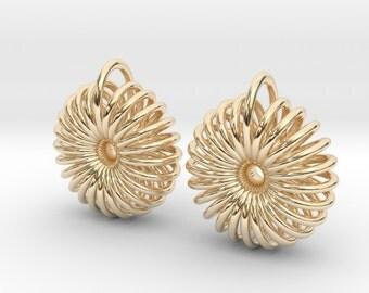 Torus earrings / Cosmic jewelry / Sacred geometry