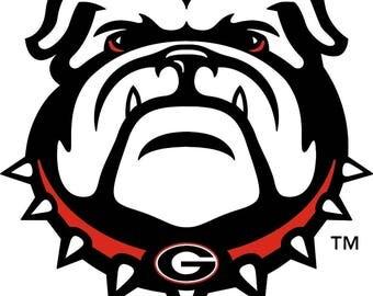 Georgia Bulldogs  Cornhole Decals / SET of 2   #3