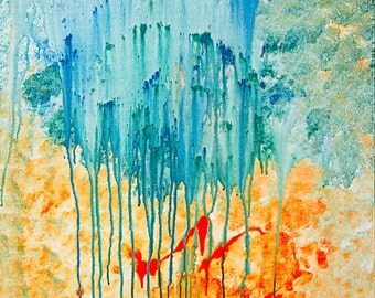 Large canvas abstract art - 'Rain down'