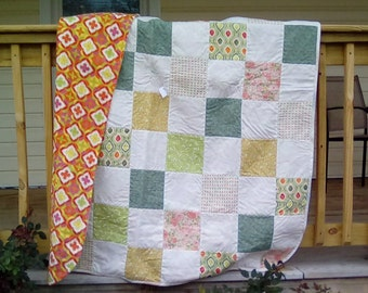 Nature patchwork lap quilt