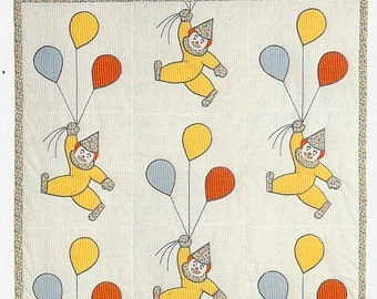 Clowns And Balloons Quilt Pattern Circus Clowns and Balloons Applique Quilt Pattern PDF Instant Download