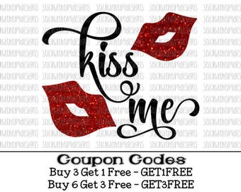 Kiss me Svg Valentines Svg XOXO svg PNG File Valentines Day svg Kiss svg Lips svg Valentine svg files for silhouette svg files for cricut