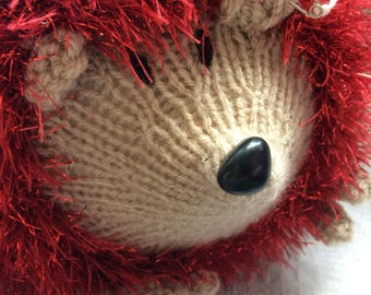 Very large handknitted hedgehog toy/gift