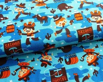 "Lillestoff  ""Cowboys""  Knit Fabric for Boys by Deborah van de Leijgraaf Wild West Fabric Organic Cotton Jersey Fabric"