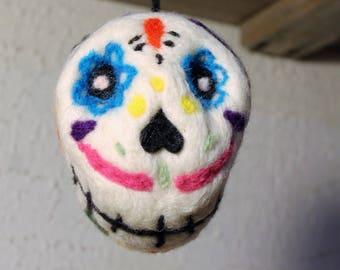 Needle Felted Sugar Skull