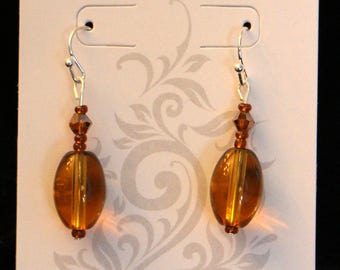 Beautiful Amber Drop Earrings