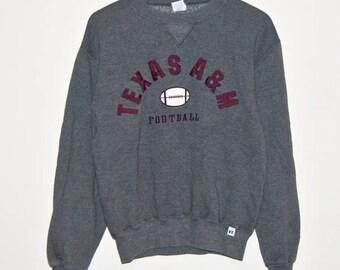 TEXAS A&M Vintage College Crewneck Football Sweater (S)