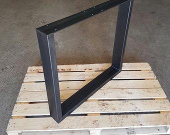 Table runners 1 pair steel legs 73-60 industrial design 100-40 1 pair of table legs