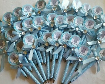 Baby Shower Baby Elephant pens Favors for Boy (25 pcs)