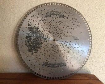 "Antique REGINA 12 1/4"" Music Box Disc. #6025 Singers Joy Polka, STRAUSS"