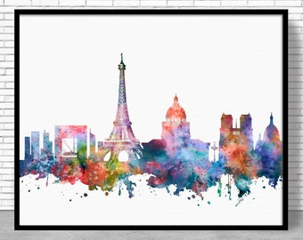 Paris Art Print Zone, Paris Print, Paris Decor, Paris Skyline, Office Decor Paris France Paris Poster, Paris Wall Art Office Poster