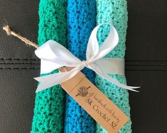 100% Cotton Washcloth - Blossom Stitch