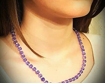 Hand-beaded Blue-Purple Necklace