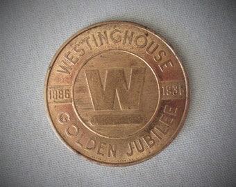 1936 Westinghouse Golden Jubilee Token Coin The New Standard Of Refrigerator Value  Vintage
