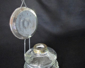 1930s Vintage Wall Sconce Metal and Glass