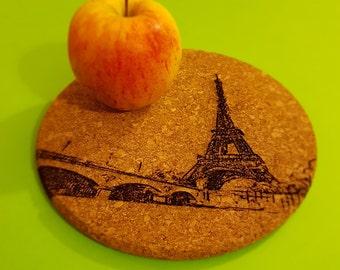 Trivet in Liège with motive: Eiffel Tower - Paris -.