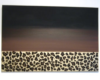 Canvas part leopard print