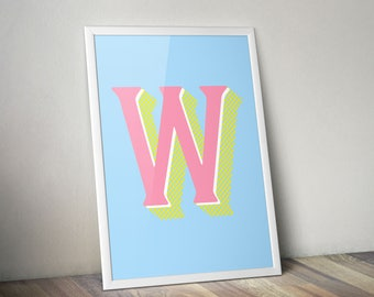 Custom Letter Typography Print