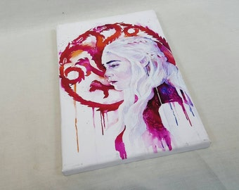 Daenerys Targaryen A4 Size Canvas Game Of Thrones Themed khaleesi Mother Of Dragons