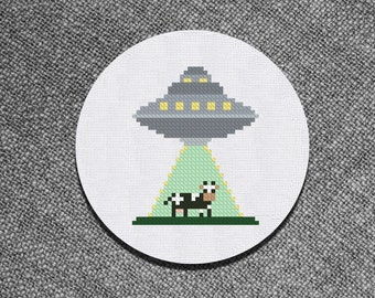 Cross Stitch Pattern Alien Invasion Instant Download PDF Counted Chart