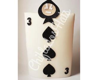 Casino Aces Poker Gambling Playing Card Magic Foam Hat Vegas