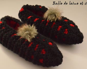 Women's Knitted Slippers size 7-8