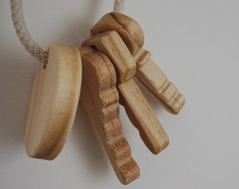 Wooden Children's Keys