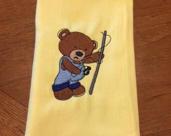 Fishing Burp Cloth