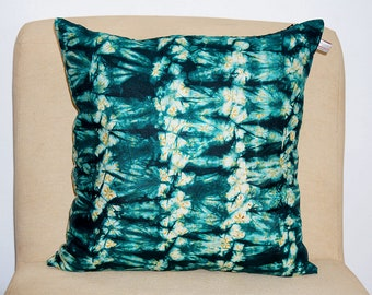 Authentic African Tie Dye Throw Pillow Cover