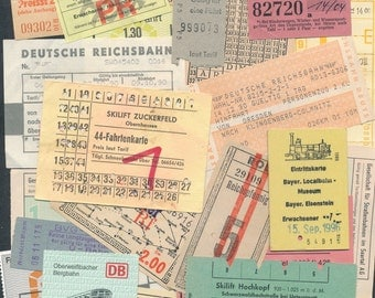 Original 40 German language tickets Railway or tram some skilift etc different sizes and shapes used & unused 1980/90s ZAS82