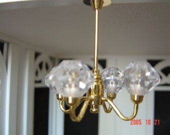 Dolls House Miniature 4 Arm Chandelier